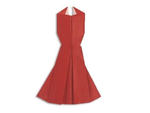 Cách gấp, xếp váy dạ hội bằng giấy origami - Video hướng dẫn