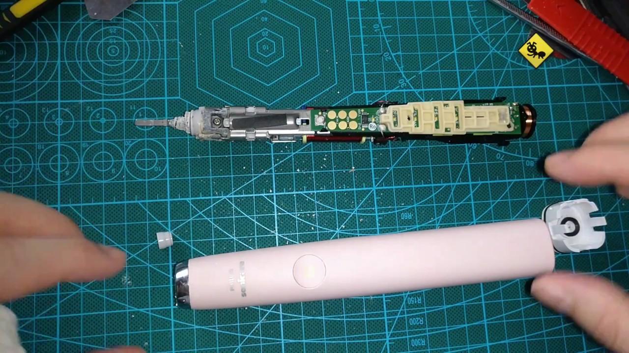 Philips Sonicare HX9360 飛利浦聲波震動牙刷 不能充電 拆解 拆除 修理Diy - YouTube