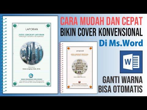 Cara Mudah Membuat Cover Konvensional di Microsoft Word