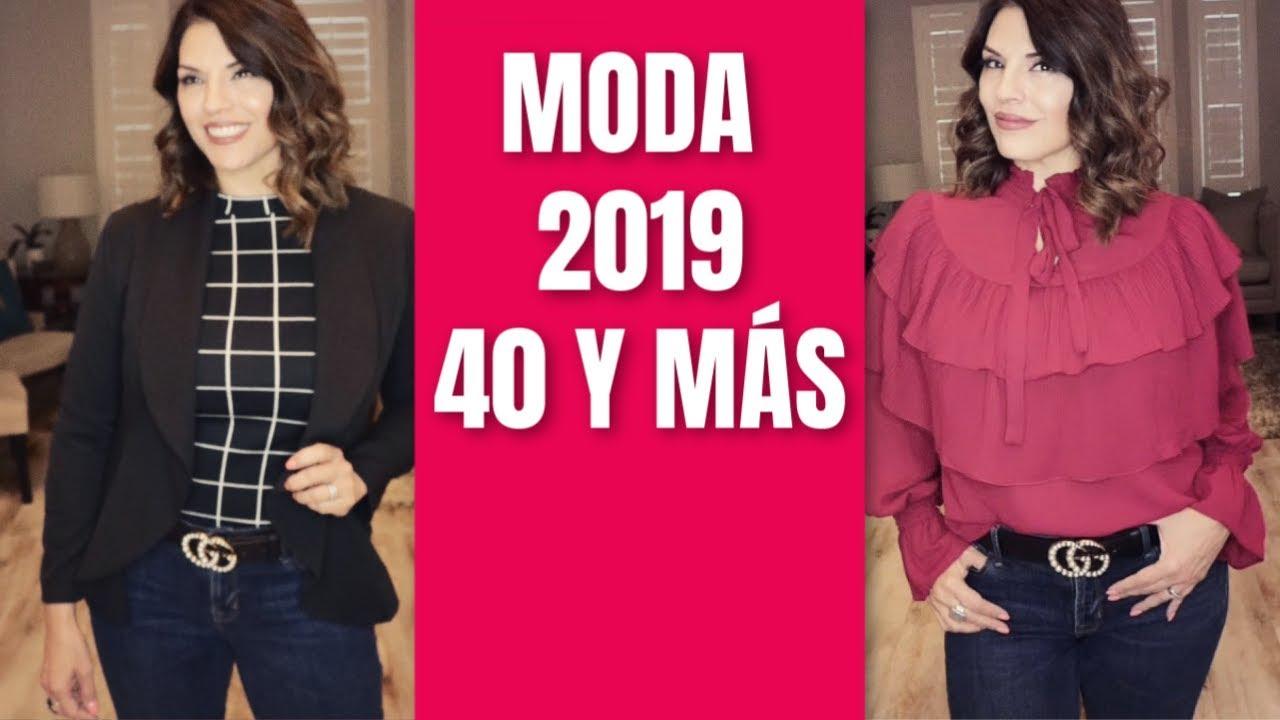Moda para mujeres de 40 modernas 2019