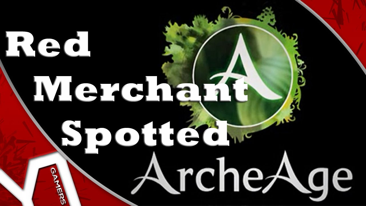 Archeage Na Lucius Red Merchant Spotted Youtube