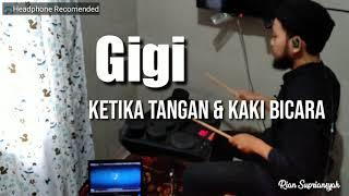 GiGi - KETIKA TANGAN & KAKI BICARA (Drum Cover) Yamaha DD75
