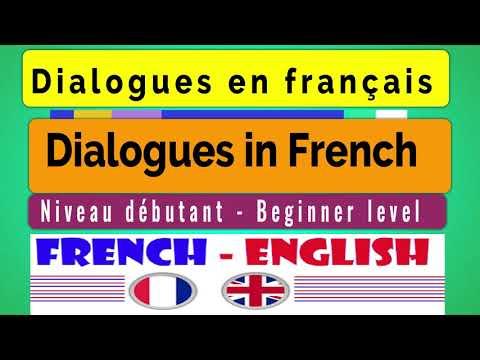 Dialogues en français - Niveau débutant - Dialogues in French - Beginner level (ENG SUB CC)