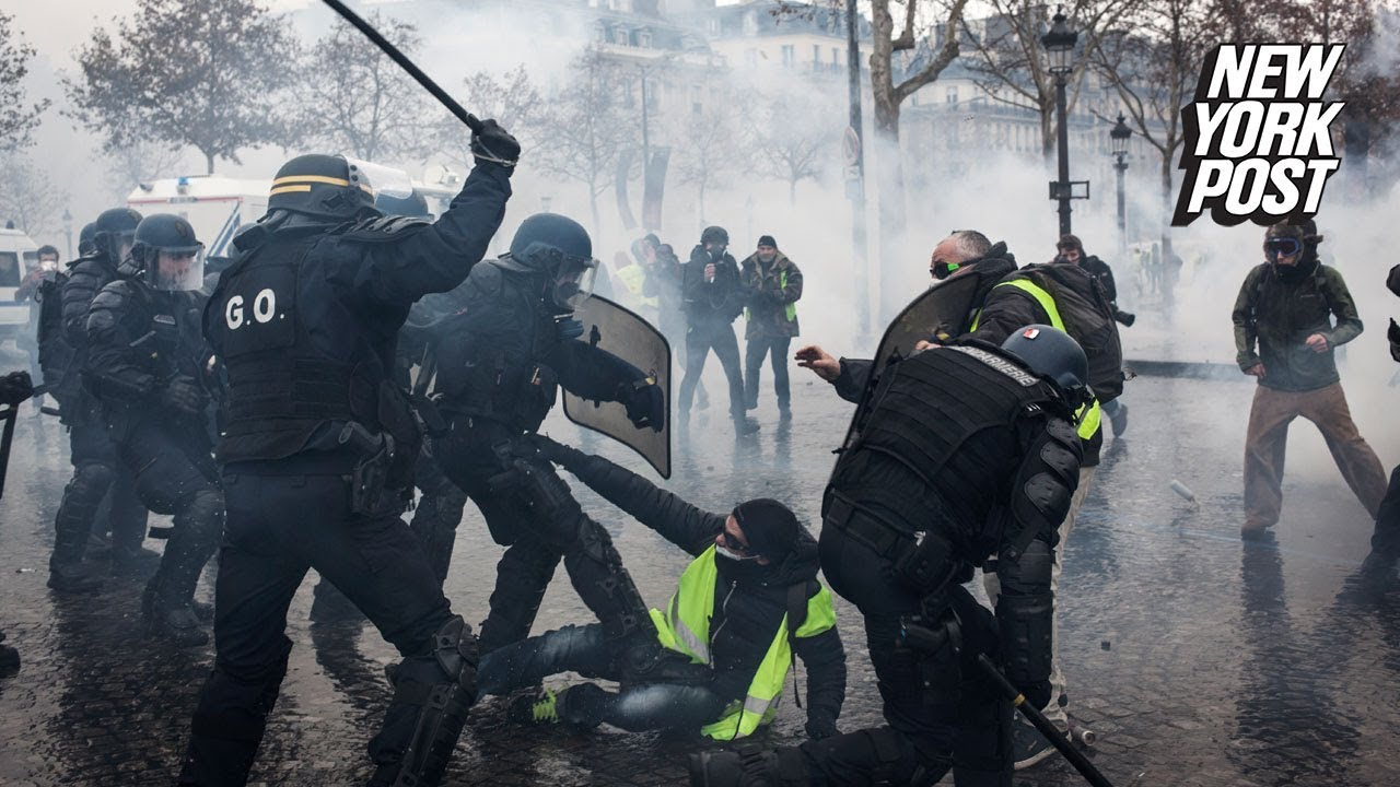 Bodycam Footage of France's Yellow Vest Protests and Paris Riots | New York Post