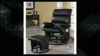 Glider Rocker Recliner And Ottoman