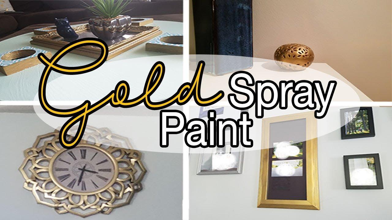 Gold Spray Paint Ideas Gold Spray Paint Diy Home Decor Youtube
