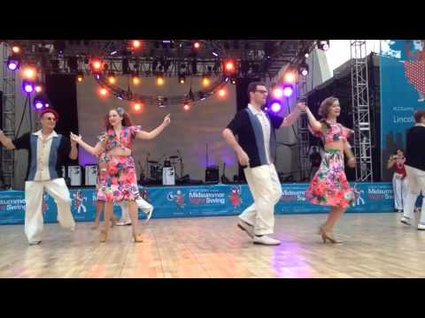 The Rhythm Stompers showcase Hula Lolo at Midsummer Night Swing