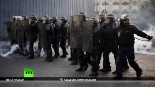 В Париже после окончания первого тура выборов вспыхнули протесты