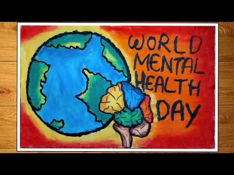 World Mental Health Day Drawing   Poster On World Mental ...