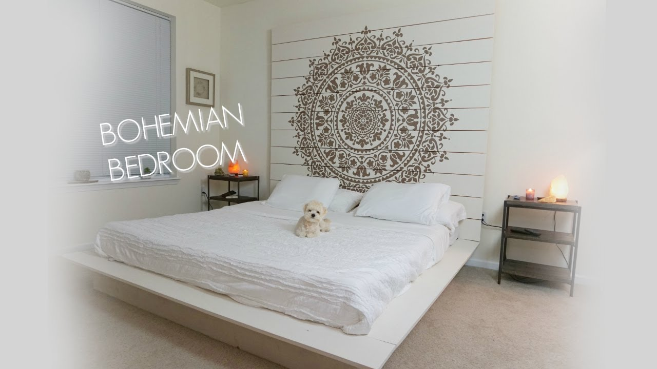 A TOUR OF MY BOHEMIAN BEDROOM!