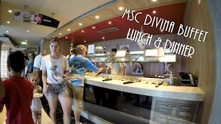 See what food MSC cruises offer aboard the Divina cruise ship for d...