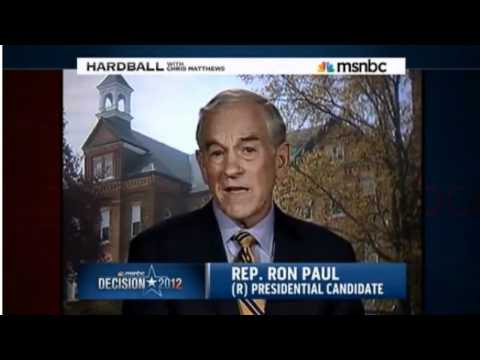 Ron Paul - Against Civil Rights Act of 1964 (Hardball Interview)