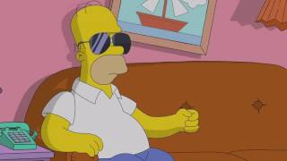 Скачать The Simpsons LA Z RIDER Couch Gag