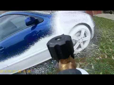 Snow foam with K2 active foam on Seat Leon M1