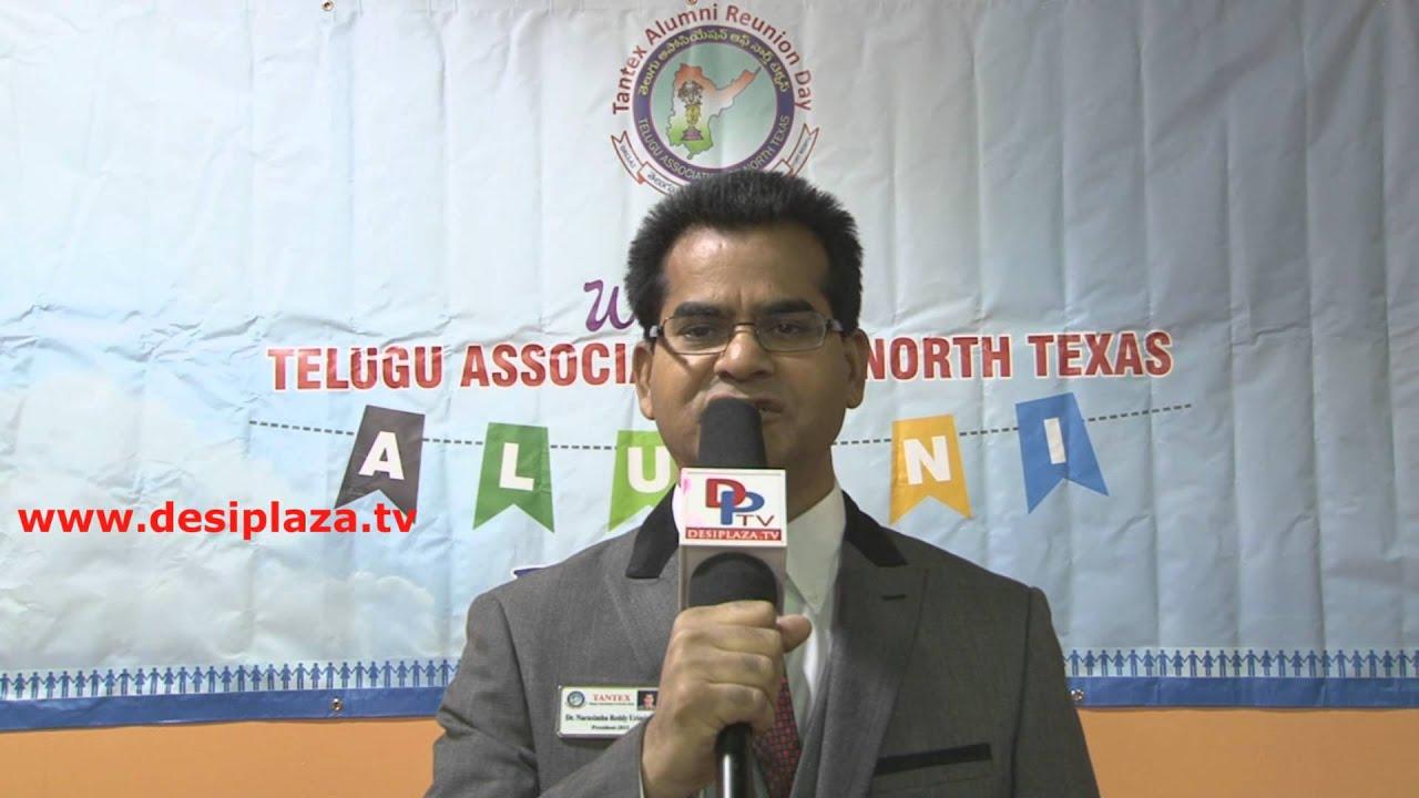 "Dr. Urmindi Narasimhareddy,TANTEX President requesting for fundraising for ""Dallas 4 Chennai"""