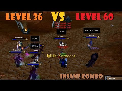 Level 36 KILLING Level 60s!? [INSANE Combo] [No Clickbait]
