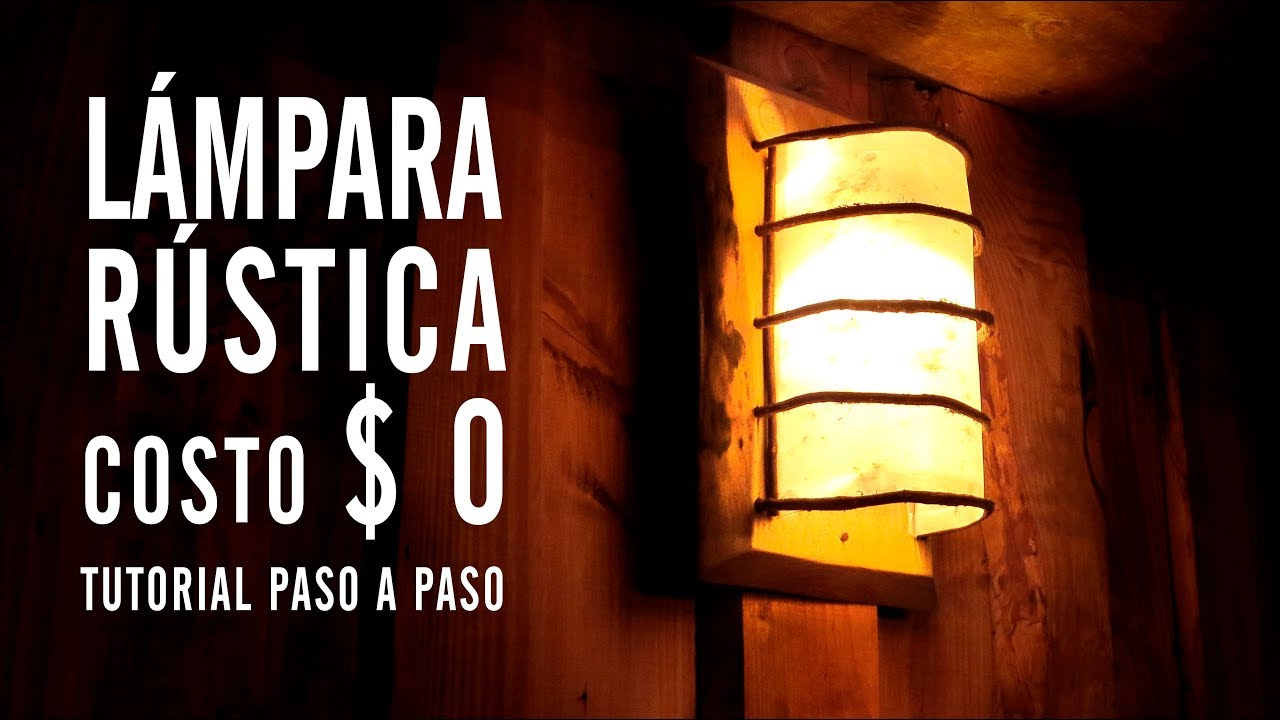 LAMPARA DECORACION RUSTICA  0  YouTube