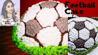 Football Cake Recipe How to make football cake Soccer Ball Cake Without Oven Cake Recipe