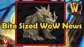 Bite Sized WoW News - Kul'tiran Humans Confirmed, New Druid Forms, Felhunter bug