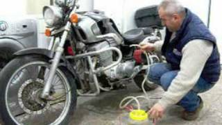 motorcycle working with water.HHO