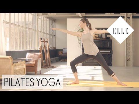 Notre cours de pilates yoga┃ELLE Pilates