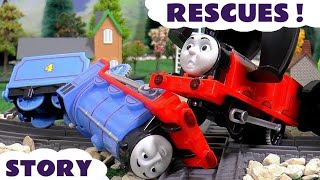 thomas and friends accident story with play doh diggin rigs toys rescue trackmaster unboxing review