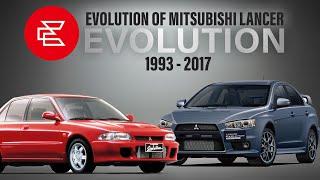 Evolution of Mitsubishi Lancer Evolution | 1992 - 2017