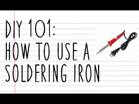 diy101 how to use a soldering iron youtube. Black Bedroom Furniture Sets. Home Design Ideas