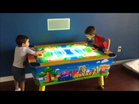 Nice Kid Air Hockey Table   YouTube