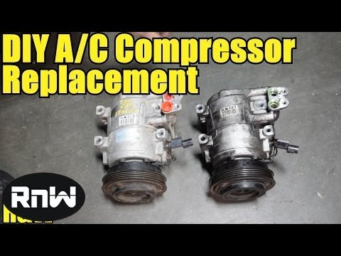 2002 chevy blazer wiring diagram trim pump how to remove and replace an ac compressor - high detail youtube
