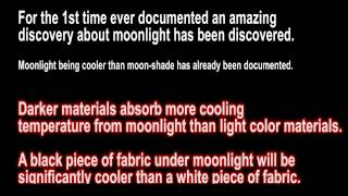 Dark materials more affected by Moonlight cooling temperature flat earth spanish