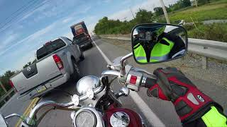 Is the Vulcan 800 Big enough for a Man(Highway Run)