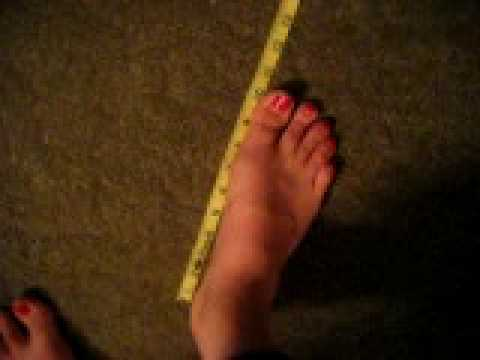 I Measure My Huge Size  Feet