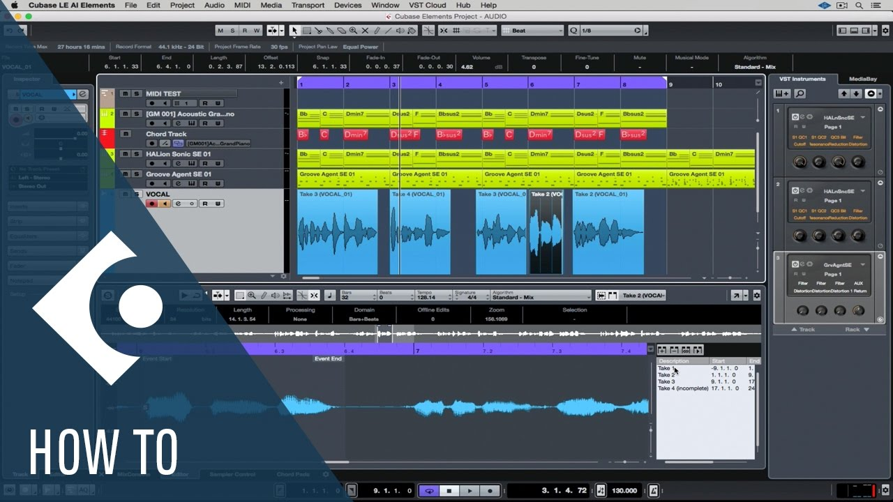 How to Record Audio in Cubase LE AI Elements | Getting Started with Cubase  LE AI Elements 9