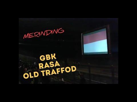 MERINDING!!!  Indonesia manchester united fans nyanyi lagu indonesia raya