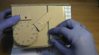 Cardboard Dial Combination Safe