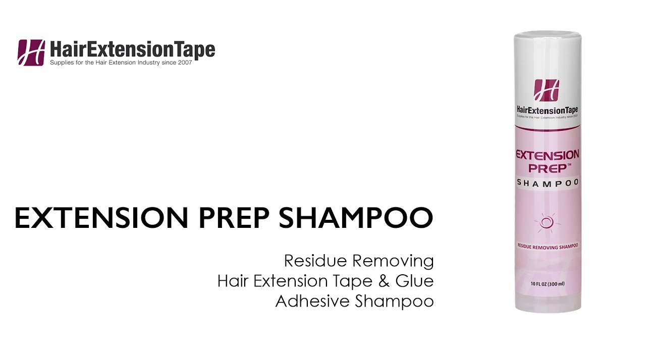Extension Prep Shampoo Adhesive Residue Remover Hair Extension