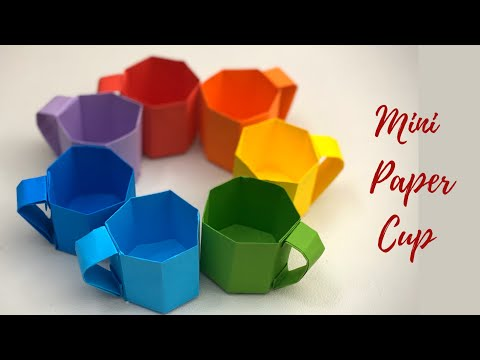 DIY MINI PAPER CUP / Paper Crafts For School / Paper Craft / Easy kids craft ideas / Paper Craft New