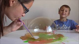 Прикол с лизуном Пузыри из лизуна FUNNY SLIME надули слизь слайм надули лизуна
