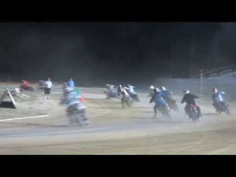 Motorcycle dirt track race Mid-America Speedway open class. Semi 8/17/2013