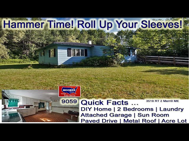 Homes For Sale In Maine | DIY Cheap Vacation Real Estate MOOERS REALTY  9059