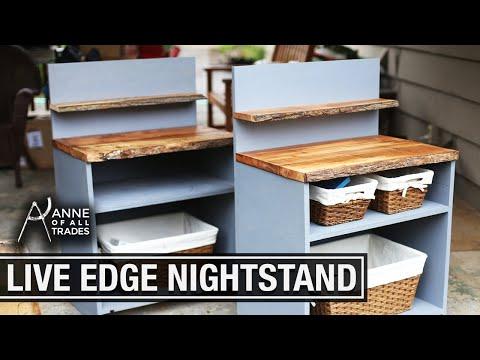 $2 DIY Live Edge Side Table