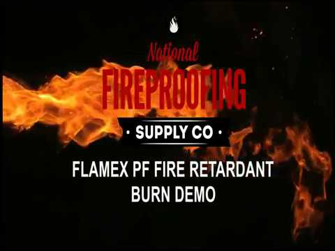 Flamex PF Fire Retardant Spray For Fabric Burn Demo
