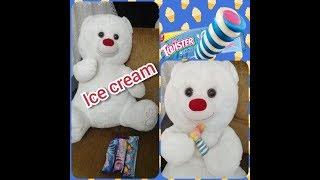 Üç Tane Twister Dondurma Aldık İki Tanesini Koca Ayı Yedi.😅🐻🐻Eflin Çok Üzüldü.😟