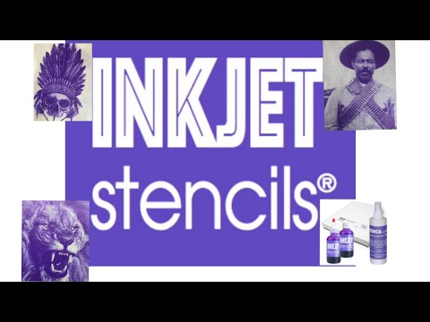 Inkjet stencil !unboxing, set up, and printing!
