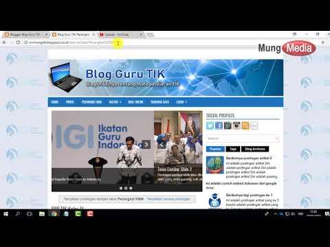 Panduan Cara Mengedit Dan Membuat Menu Blog Guru Edit HTML Template