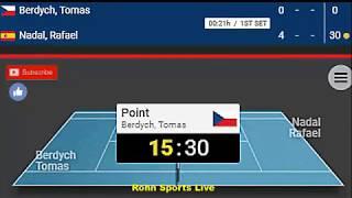 NADAL vs BERDYCH Live Game Australian Open 2019 20.1.19 Score