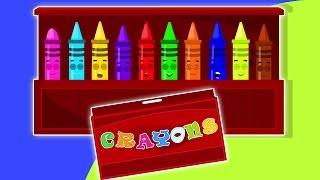 Dix dans le lit | Crayons chanson | Comptines pour enfants | Crayons Ten in the Bed Nursery Rhyme