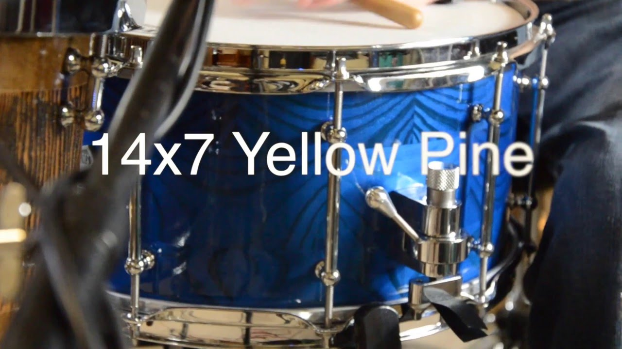 yellow pine snare drum sound file 14x7 youtube. Black Bedroom Furniture Sets. Home Design Ideas