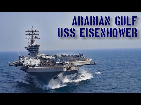 USS Eisenhower Aircraft Carrier at Sea - Oct 2016